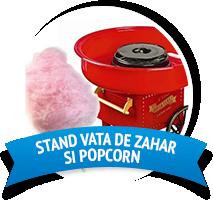 Stand vata de zahar si popcorn pentru copii